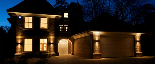Down-lit Garage & House