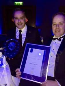 Our Managing Director and Contracts Manager Holding their Award