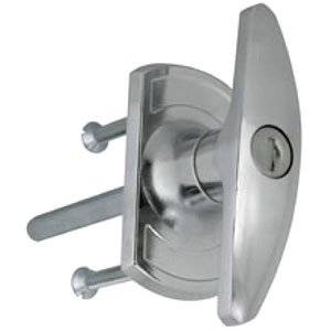 Chrome garage door handle / lock