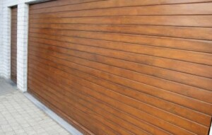 Sectional Garage Door in wood