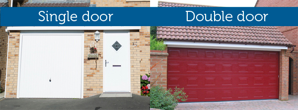 Garage door dimensions detailed wessex garage doors for How wide is a standard garage door
