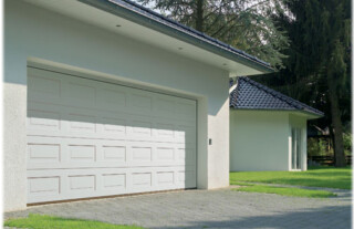 Steel Garage Doors - White Panelled Steel Garage Doors