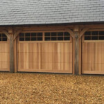 Timber sectional garage doors