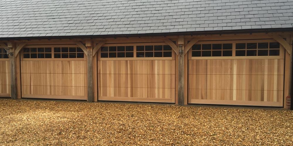 Timber Sectional Garage Doors