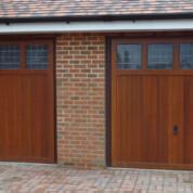 Timber Up and Over Garage Door - twin garage doors