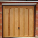Timber up and over garage door - single garage door