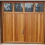 Timber up and over garage door - single garage door with glass panels