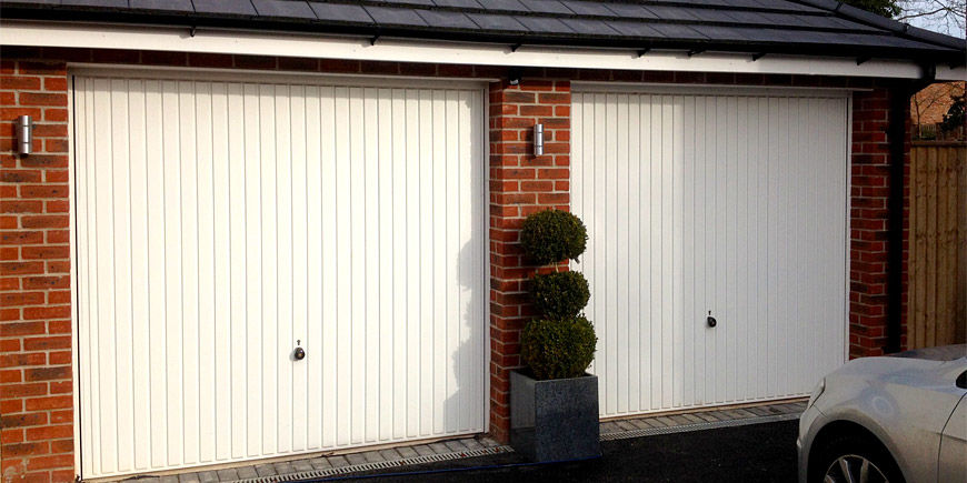 Up and over garage doors - double garage door