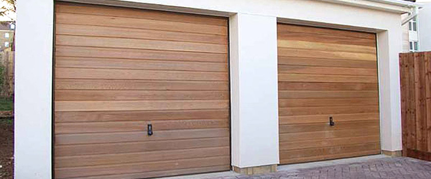 Up and Over Double Wooden Garage Doors